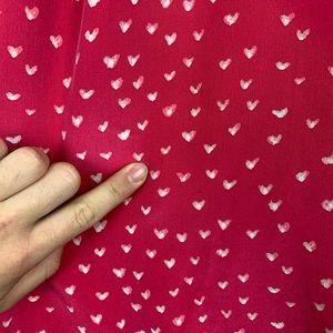 Joie Tops - Joie Heart Print High Neck Silk Tank Top